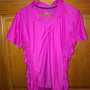 Athleta Ruched Top bright pink